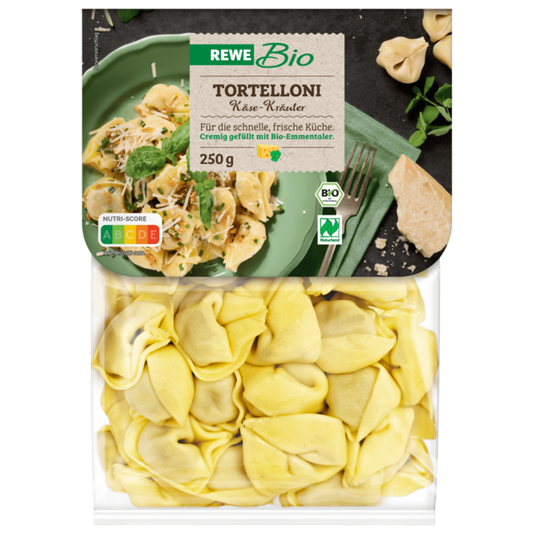 rewe bio tortelloni frischk se kr uter 250g bei rewe online bestellen. Black Bedroom Furniture Sets. Home Design Ideas