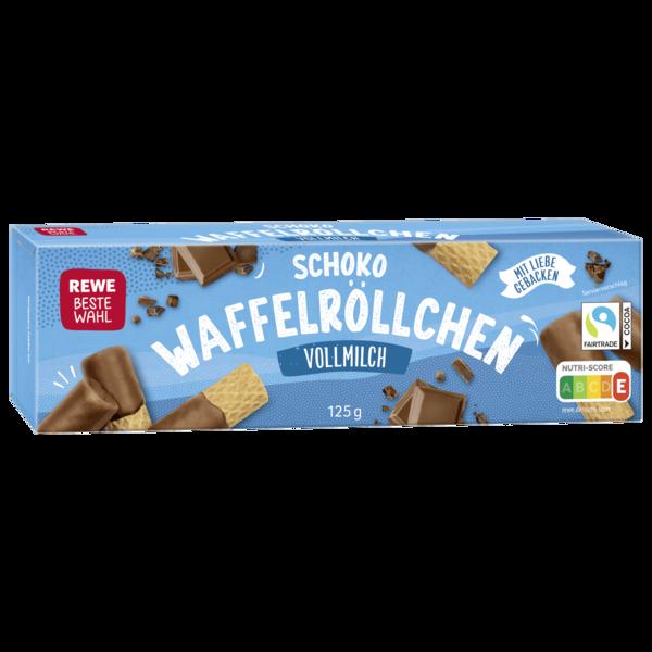 REWE Beste Wahl Schokoröllchen Vollmilch 125g