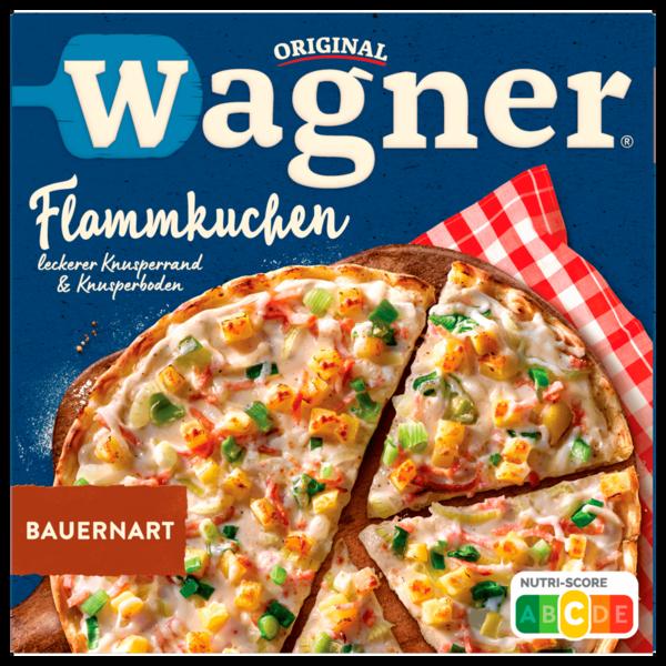 Original Wagner herzhafter Flammkuchen Bauernart Kartoffeln Rauchfleisch Tiefgefroren 320g