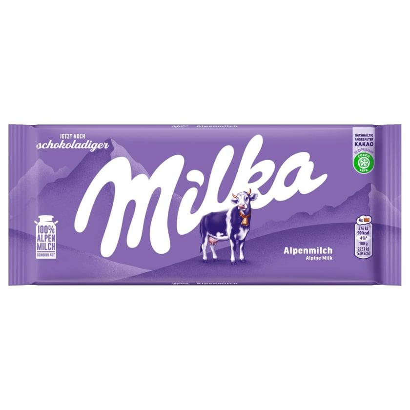 Milka Schokolade Alpenmilch 100g