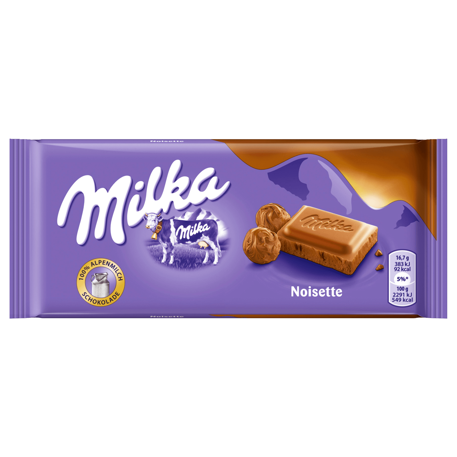 MILKA SCHOKO TAFEL MILCH MIT NOISETTE PASTE
