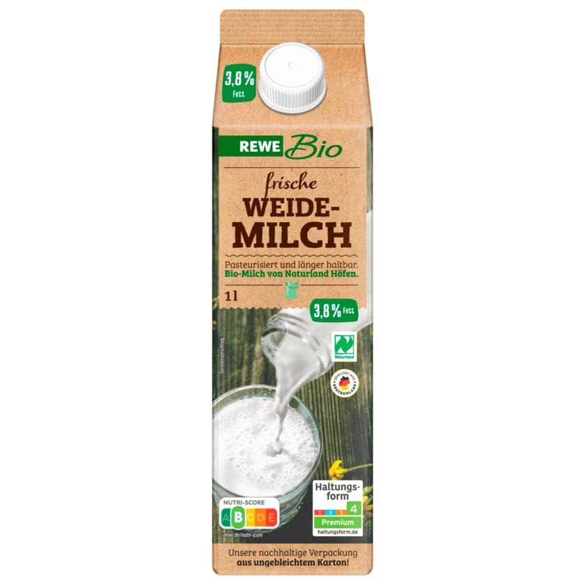 REWE Bio frische Vollmilch 3,8% 1l