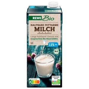 REWE Bio Fettarme H-Milch 1,5% 1l