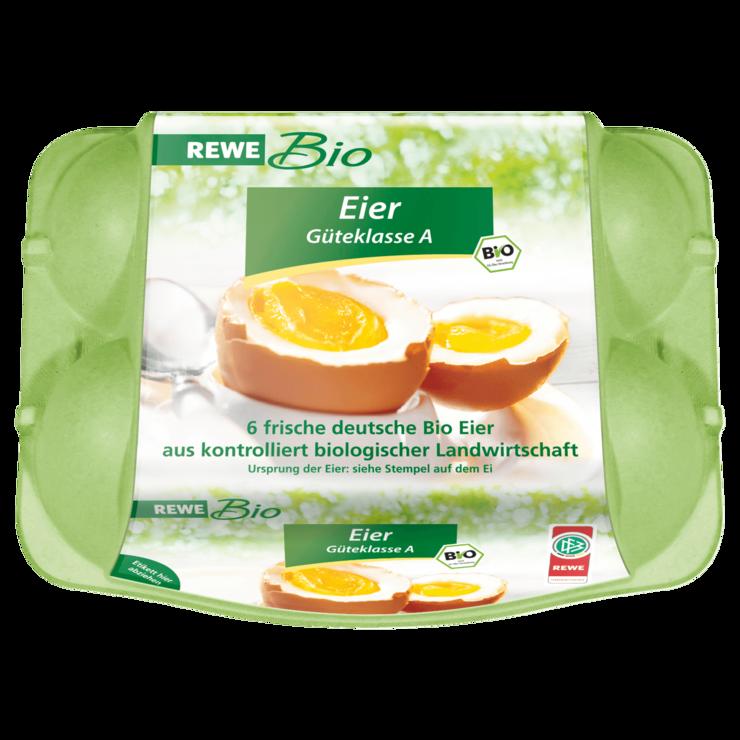REWE Bio Frische Bio-Eier 6 Stück