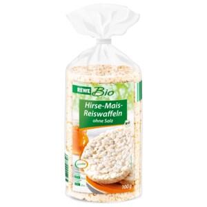 REWE Bio Hirse-Mais-Reiswafeln ohne Salz 100g