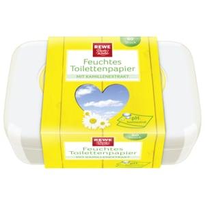 REWE Beste Wahl Feuchtes Toilettenpapier Kamille 60 Stück