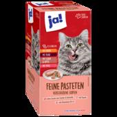 ja! Katzenfutter Feine Paté-Mahlzeit 8x100g