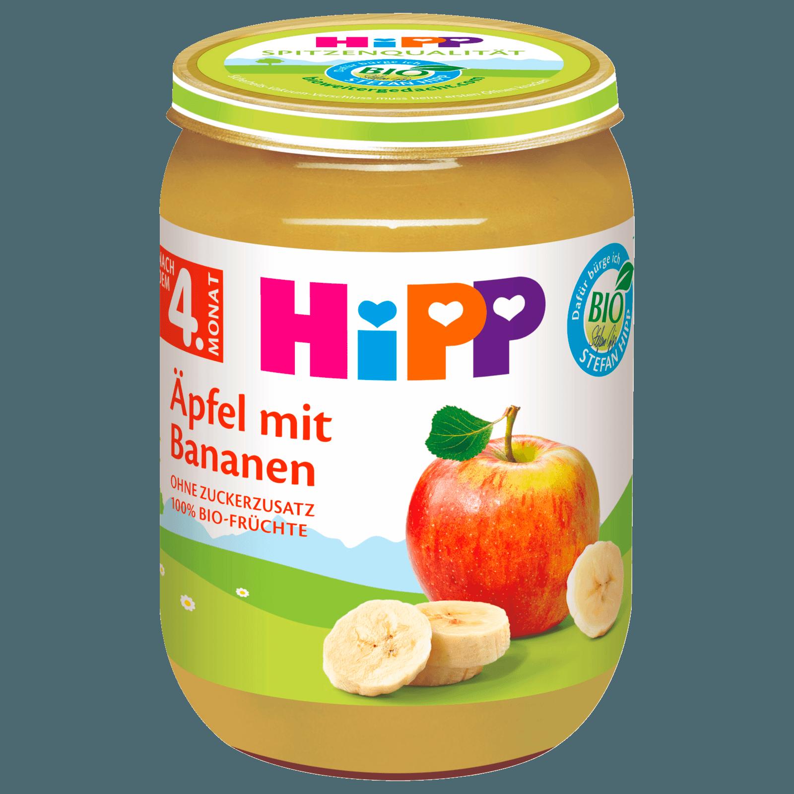 Hipp Äpfel mit Bananen 190g