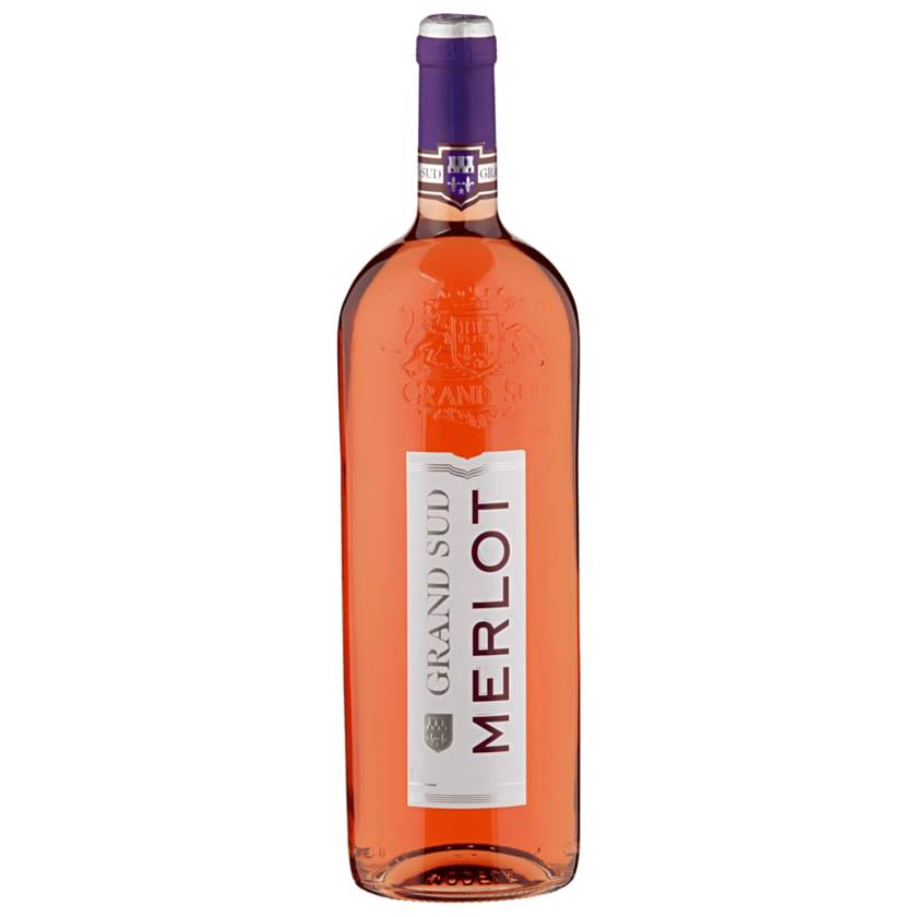 Grand Sud Rosé Merlot halbtrocken 1l
