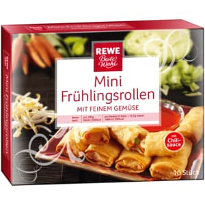 REWE Beste Wahl Mini-Frühlingsrollen mit Gemüsefüllung 225g