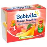Bebivita Feine Früchte Pfirsich-Banane in Apfel 4x100g