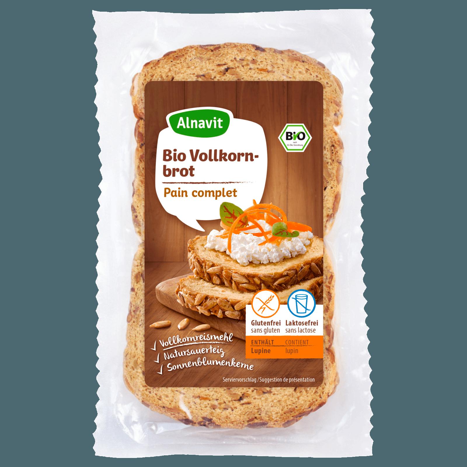 Alnavit Bio Vollkornbrot glutenfrei 400g