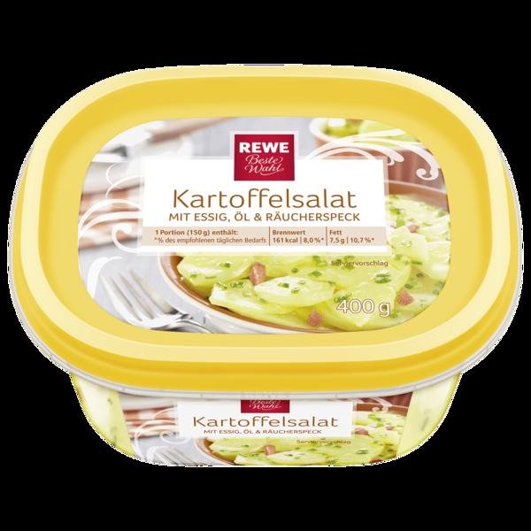 REWE Beste Wahl Kartoffelsalat mit Essig, Öl & Räucherspeck 400g