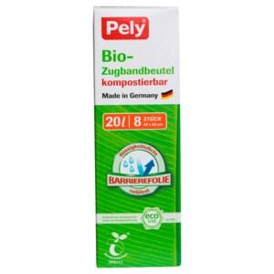 Pely Bio-Zugbandbeutel 20l, 8 Stück
