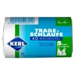 Kerl Kosmetik-Müllbeutel mit Trageschlaufe 33x48cm 5l, 40 Stück