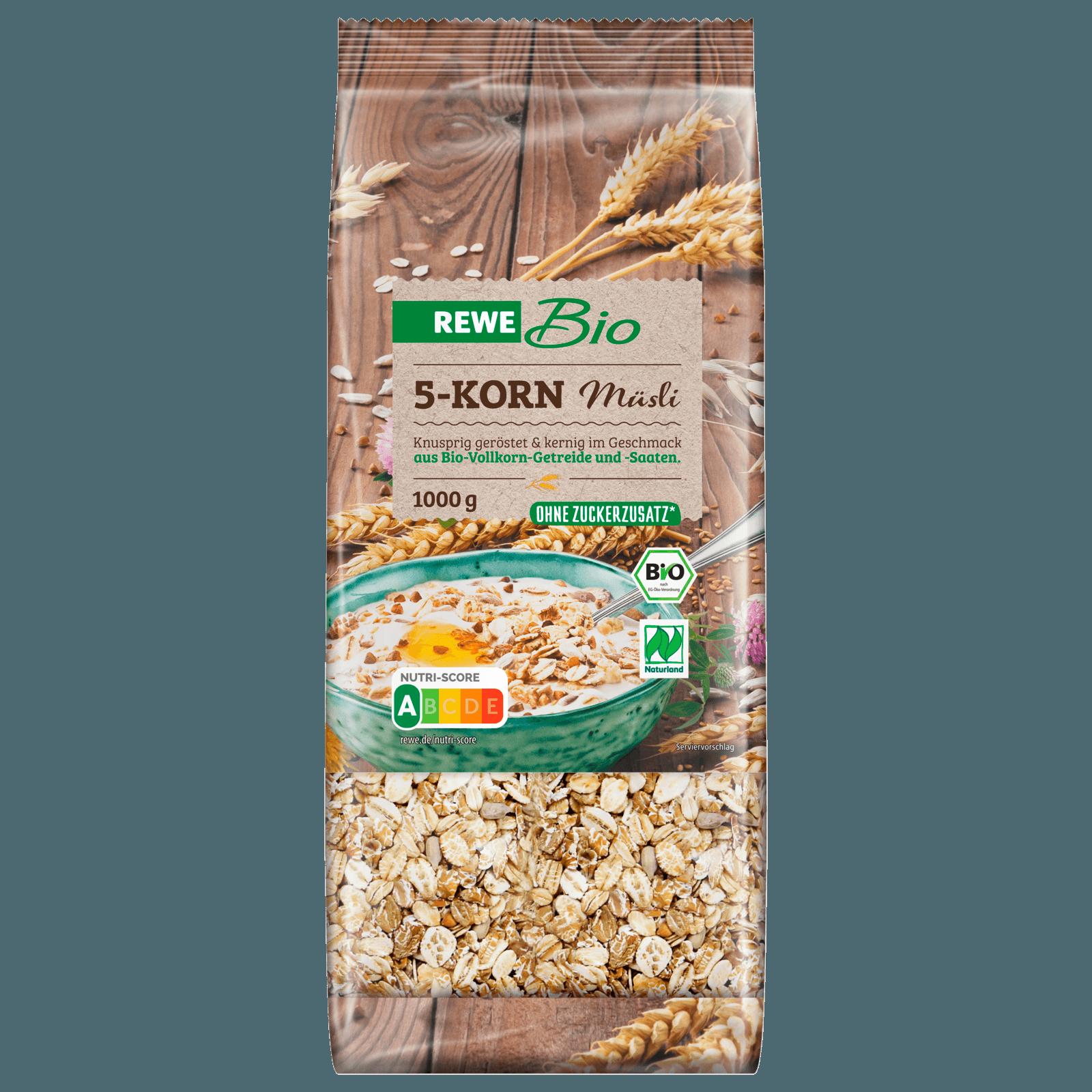 REWE Bio 5-Korn-Müsli 1kg bei REWE online bestellen!