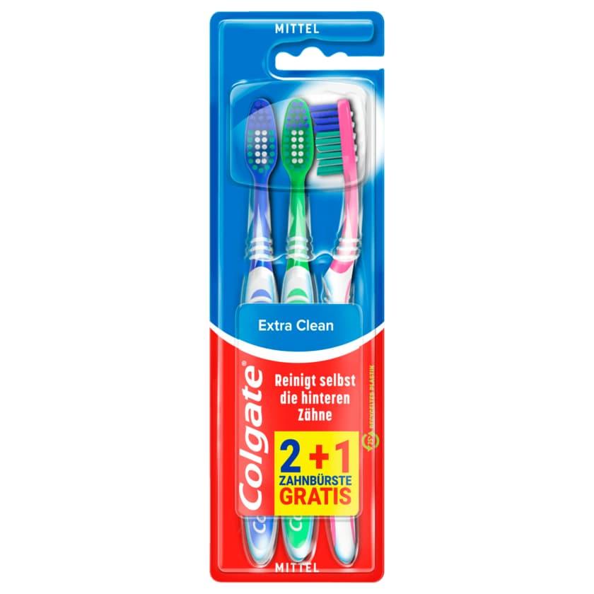 Colgate Extra Clean Zahnbürste Mittel 3 Stück