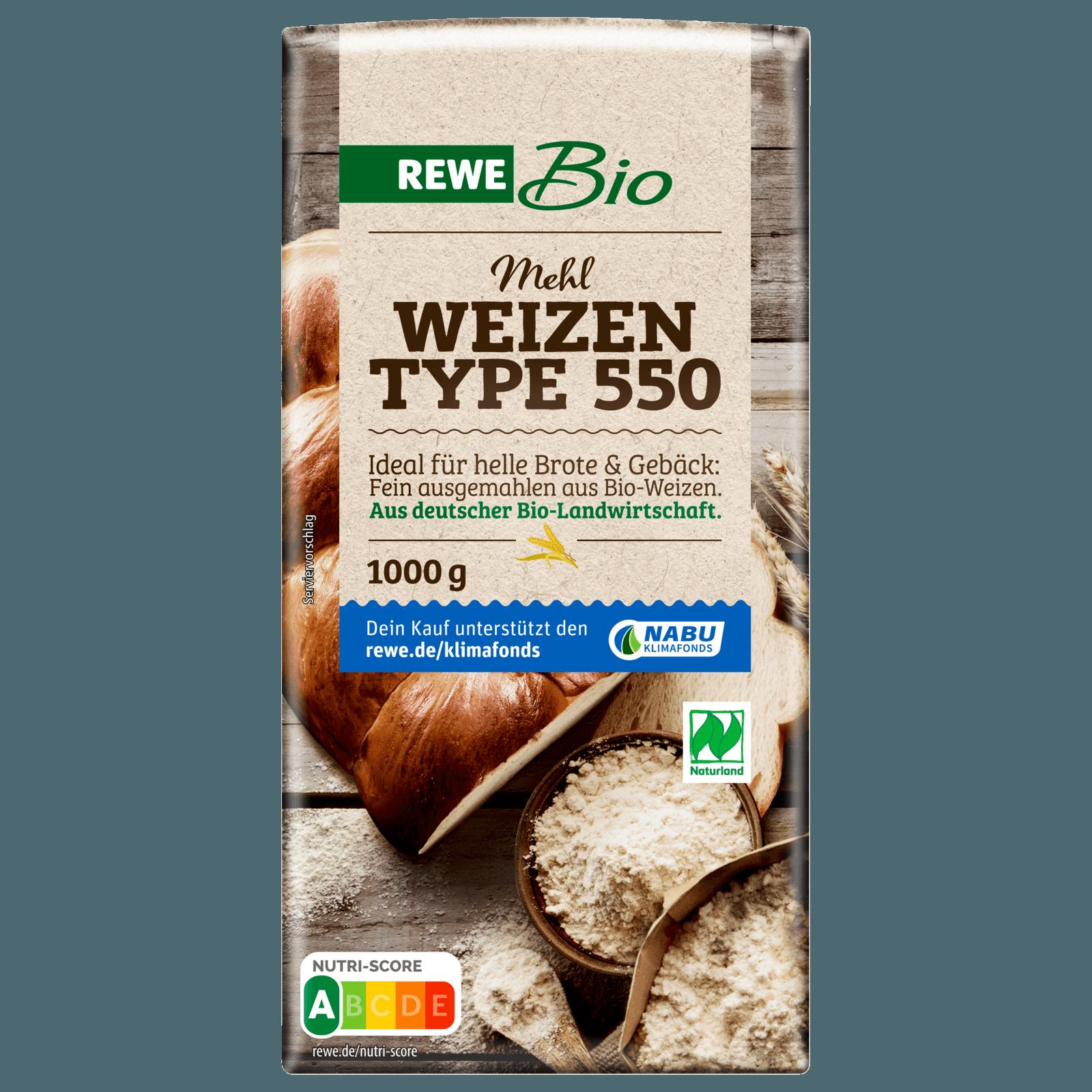 Rewe Bio Weizenmehl Type 550 1kg Bei Rewe Online Bestellen