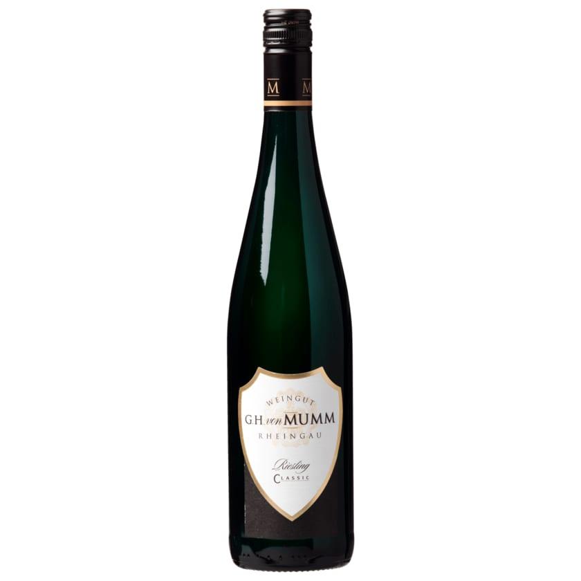 G.H. von Mumm Weißwein Riesling Classic 0,75l