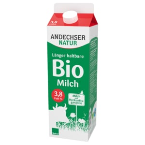 Andechser Natur Bio-Vollmilch 3,5% längerfrisch 1l