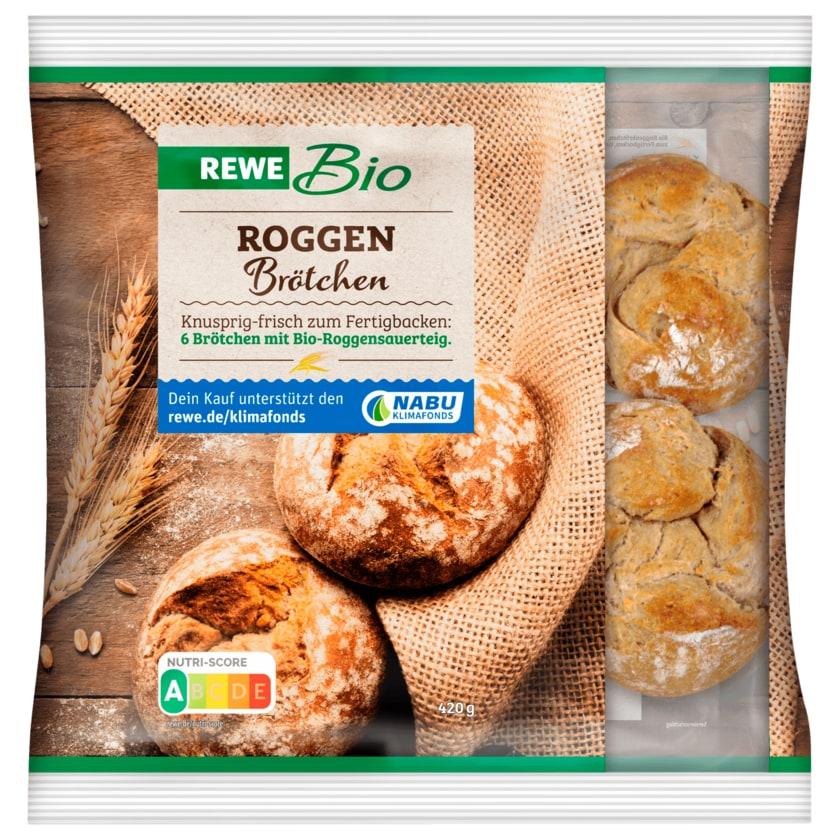 REWE Bio Roggenbrötchen 6 Stück