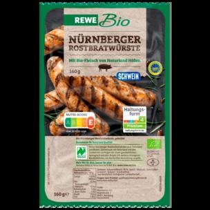 REWE Bio Original Nürnberger Rostbratwürstchen 160g