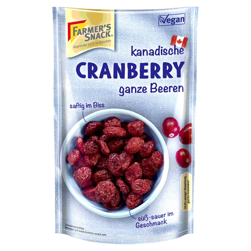 Farmer's Snack Fruit Snack Cranberry 200g