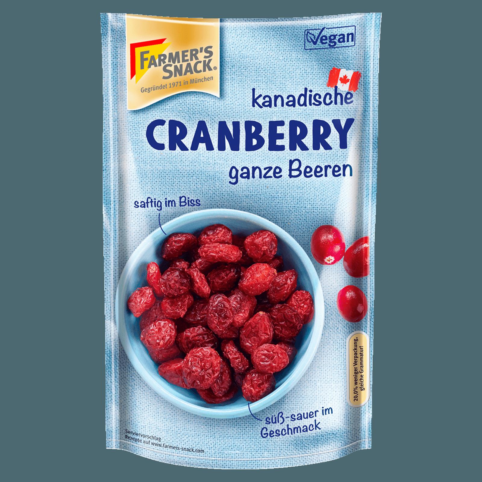 Farmer's Snack Fruit Snack Cranberries 200g