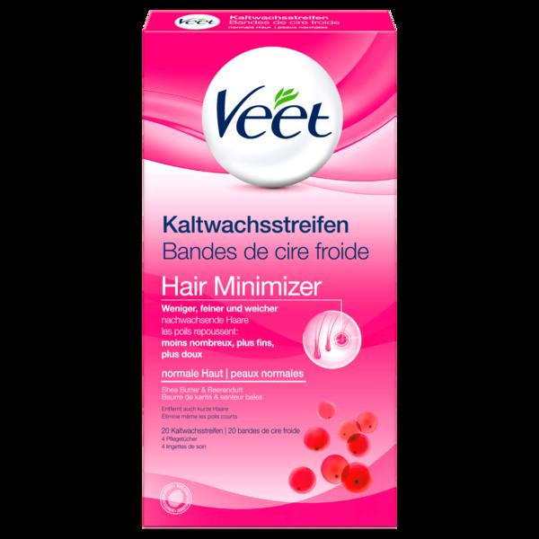 Veet Kaltwachsstreifen Hair Minimizer Normale Haut 20 Stück