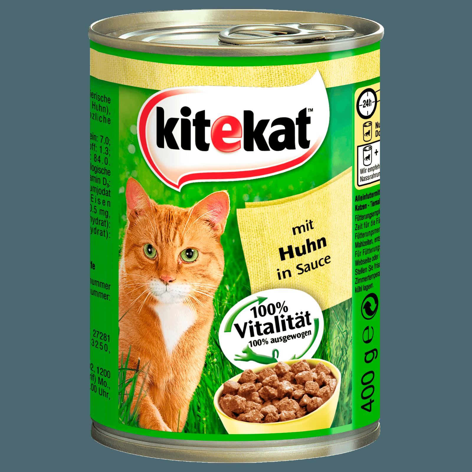 Kitekat Katzenfutter Mit Huhn in Soße 400g
