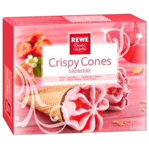 REWE Beste Wahl Crispy Cones Erdbeere 6x120ml