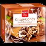 REWE Beste Wahl Crispy Cones Haselnuss 6x120ml