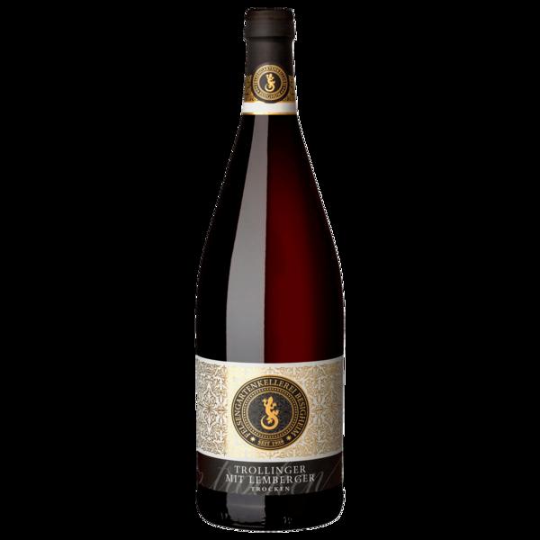Besigheimer Felsengarten Trollinger mit Lemberger Rotwein trocken 1l