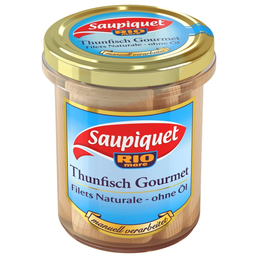 Saupiquet Thunfisch Gourmet Naturale ohne Öl im Glas 140g