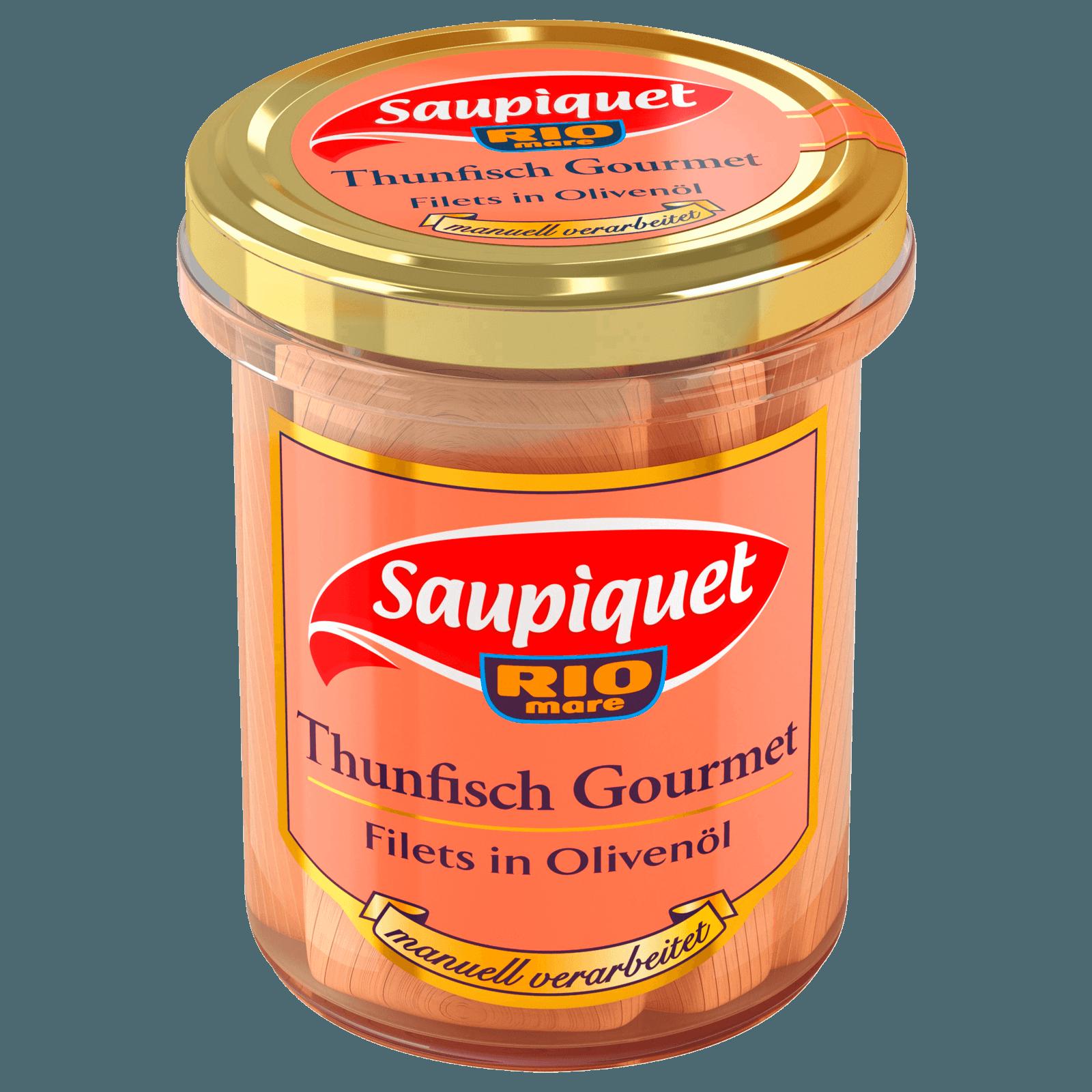 Saupiquet Thunfisch Gourmet Olivenöl im Glas 140g