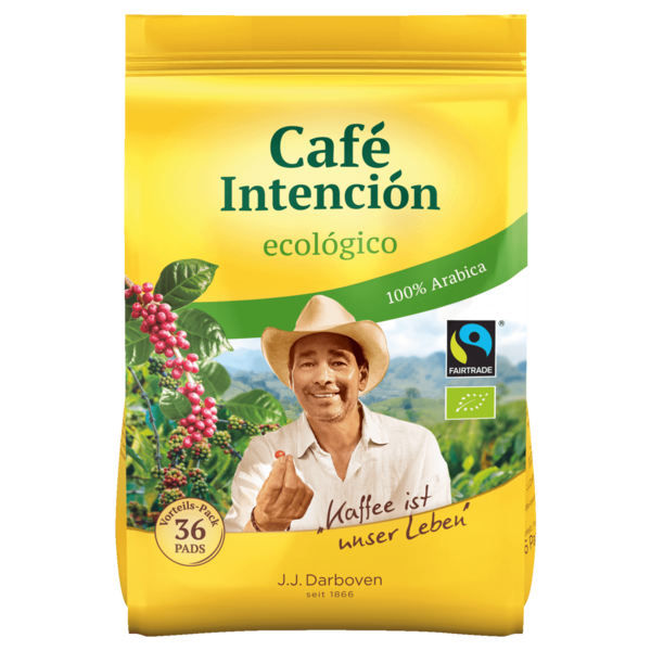 J.J. Darboven Café Intención ecológico Bio 252g, 36 Pads