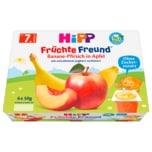 Hipp Früchte-Freund Bio Banane-Pfirsich in Apfel 6x50g
