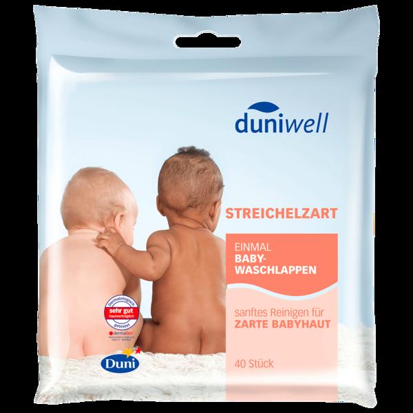 Duniwell Streichelzarte Baby-Waschlappen 40 Stück