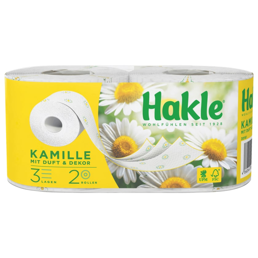 Hakle Kamille Toilettenpapier 3-lagig 2x150 Blatt