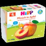 Hipp Frucht-Pause Pfirsich in Apfel 4x100g