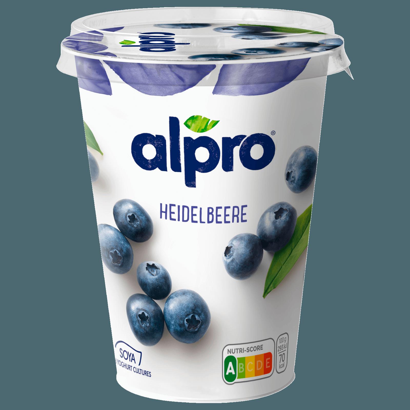 Alpro Joghurtalternative auf Sojabasis, Heidelbeere, 500 g
