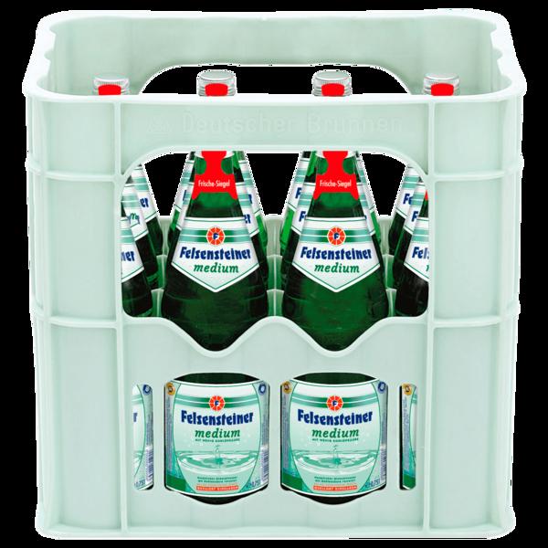Felsensteiner Mineralwasser Medium 12x0,75l