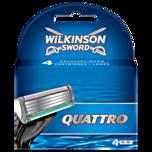 Wilkinson Sword Quattro Klingen 4 Stück