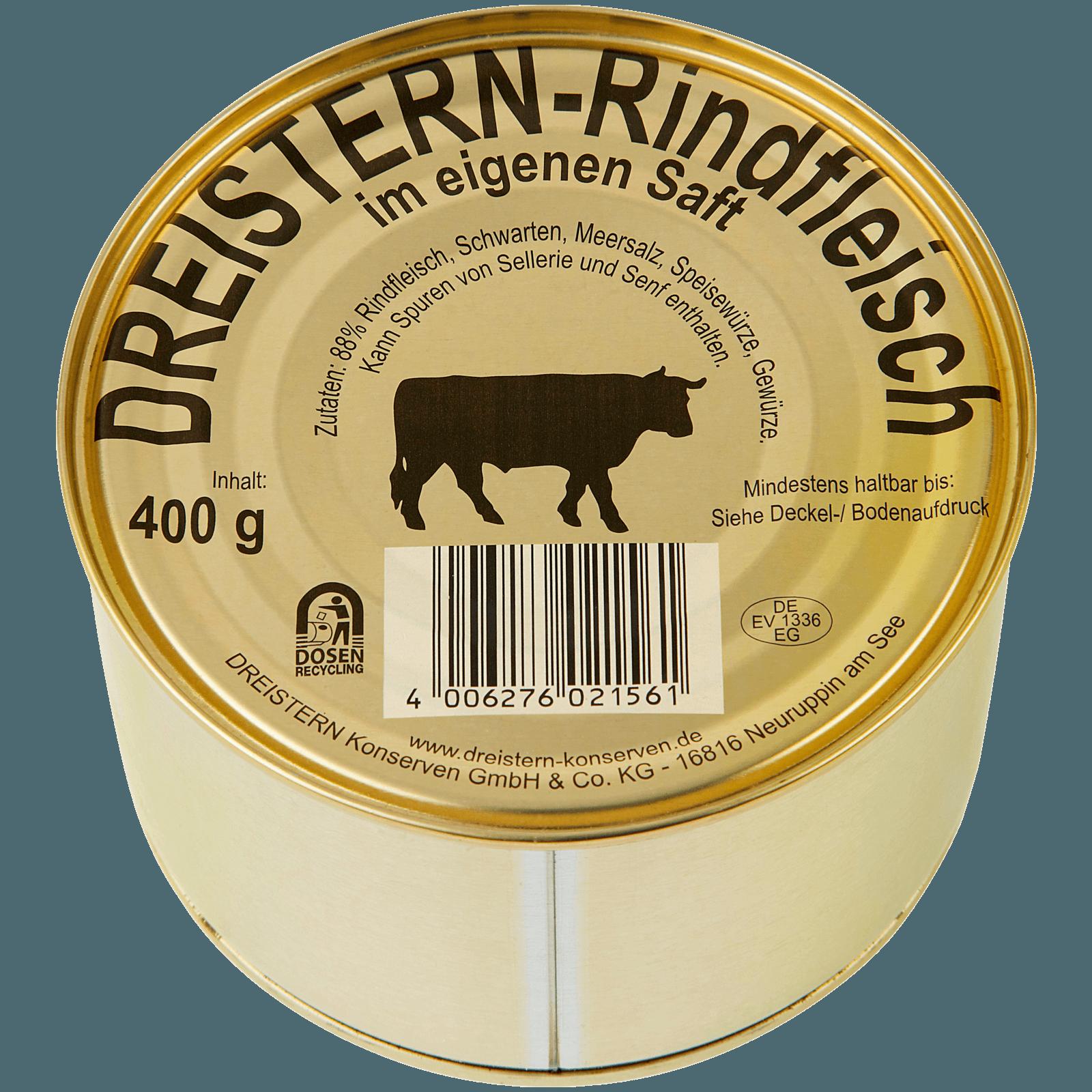Dreistern Rindfleisch im eigenen Saft 400g