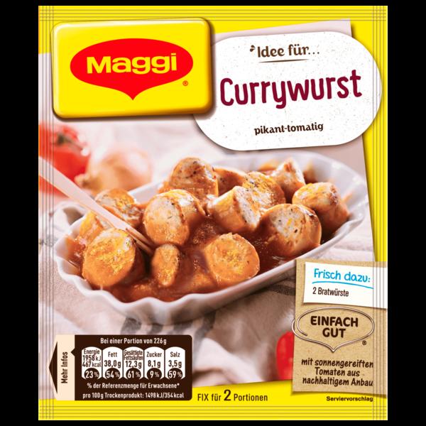 Maggi Fix für Currywurst 40g