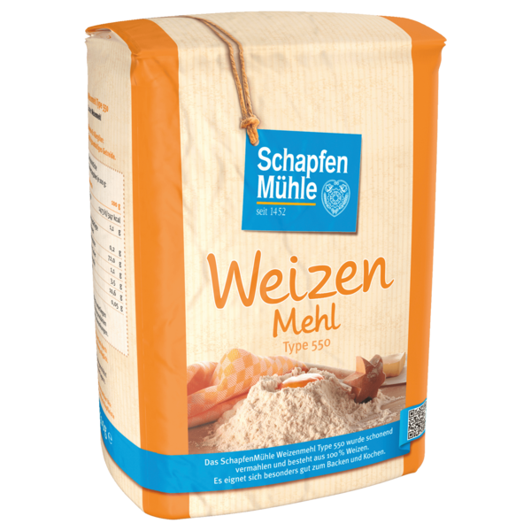 Schapfen Mühle Weizenmehl T550 2,5kg