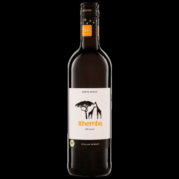 Ithemba Rotwein Shiraz Südafrika Bio trocken 0,75l