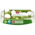 REWE Beste Wahl Eier Freiland weiß Klasse M-L 10 Stück