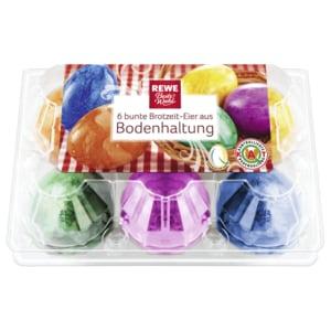 REWE Beste Wahl Eier Brotzeit Bodenhaltung Klasse M 6 Stück