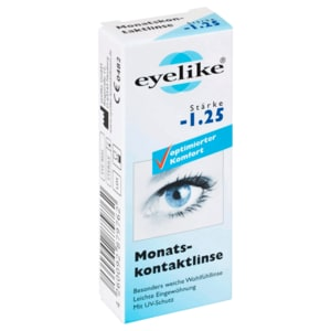 Eyelike Monatskontaktlinse Stärke -1,25